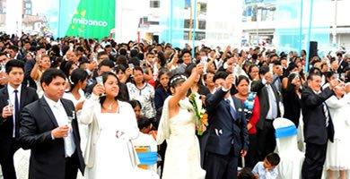 matrimonio masivo comunitario en villa el salvador